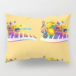 Colorful music instruments design Pillow Sham