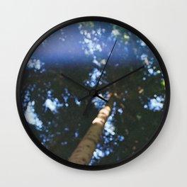 pinetree bokeh Wall Clock