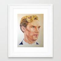 benedict cumberbatch Framed Art Prints featuring Benedict Cumberbatch  by Melissa Jane