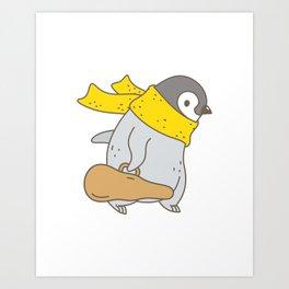 Penguin Violinist Art Print