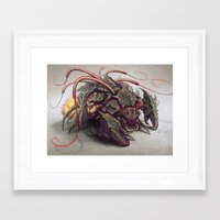 starcraft Framed Art Prints featuring RED WHIP THRESHER by Austen Mengler