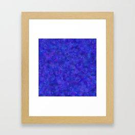 Royal Blue Floral Abstract Framed Art Print