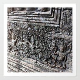 Cambodian Temple Wall Art Print