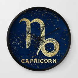 Capricorn Zodiac Sign Wall Clock