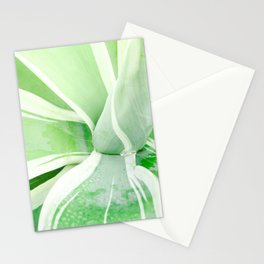 Green leaf photography Morning dew I Stationery Cards