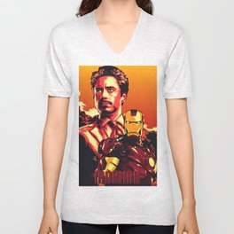 IRON MAN POSTER Unisex V-Neck