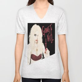 Taylor Momsen Going to hell. Unisex V-Neck