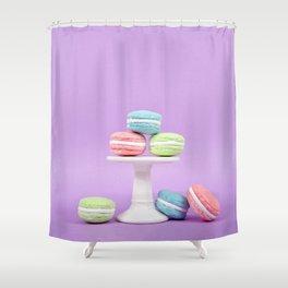 Macaron Sweet Treats Shower Curtain