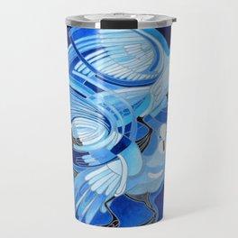 Muge's Pigeons in Blue  Travel Mug