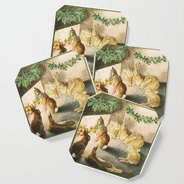 Beatrix Potter Christmas bunnies Coaster