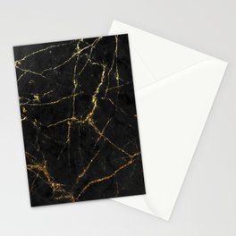 Gold Glitter and Black marble Stationery Cards