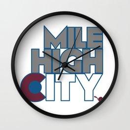 Mile High City - A Wall Clock