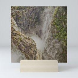 Beautiful waterfall in the rainforest Mini Art Print