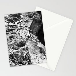 Black and White Luxurious Marble Art Stationery Cards