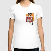 alex vause T-shirts featuring Alex Vause Prison Badge Fake Pocket Shirt With Glasses by Zharaoh
