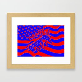 Home of the Free Because of the Brave Framed Art Print
