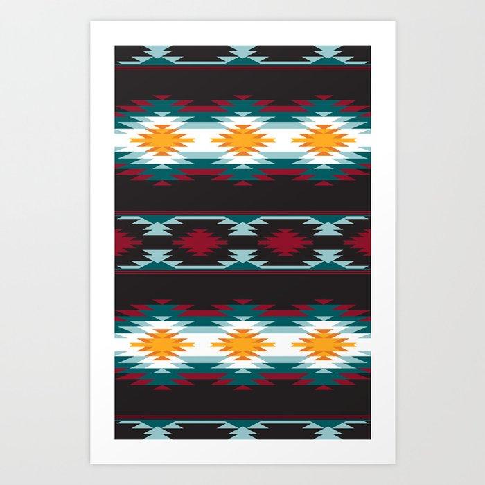 Native American Inspired Design Art Print