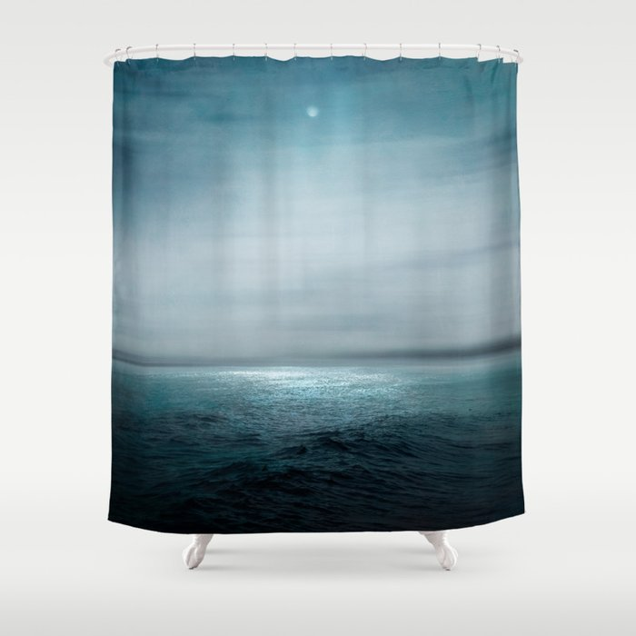 Sea Under Moonlight Shower Curtain