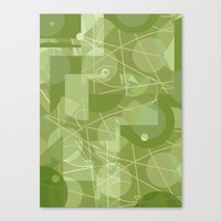 50s Canvas Prints featuring 50s wallpaper by jenapaul
