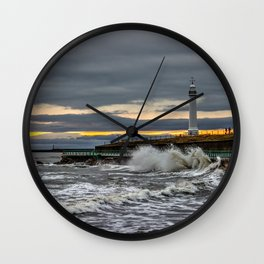 Seaburn and Roker Lighthouses Wall Clock