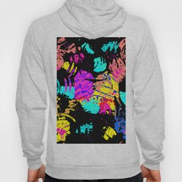 Colorful shapes on a black background Hoody