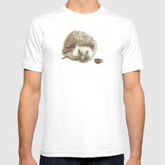 Hector the Hedgehog MEDIUM Mens Fitted Tee White