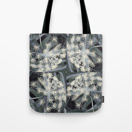 Ivory Dill Flowers in a Smoky Garden Tote Bag