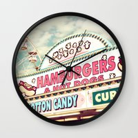 carnival Wall Clocks featuring Carnival by Sylvia Cook Photography