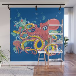 Octopus and Friends Wall Mural