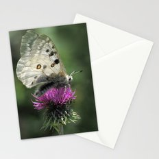 Butterfly on Thistle Flower Stationery Cards