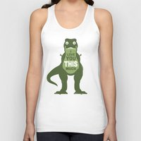 law Tank Tops featuring Amourosaurus by David Olenick