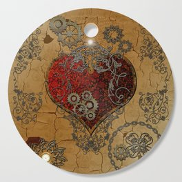 Steampunk, awesome heart Cutting Board