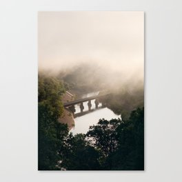Misty morning. Canvas Print