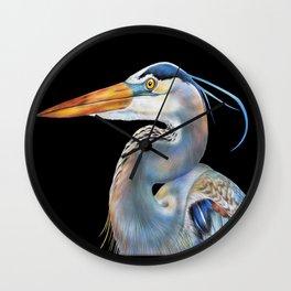 Great Blue Heron Wall Clock