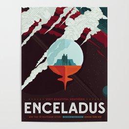 Enceladus - Home of the Cold Faithful (Courtesy NASA/JPL-Caltech) Poster