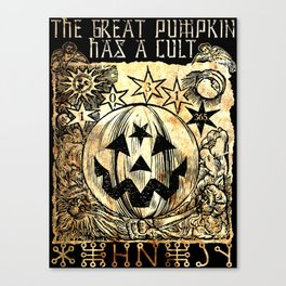 Cult of the Great Pumpkin: Sun, Moon and Angels Canvas Print