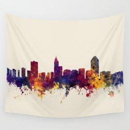 Raleigh North Carolina Skyline Wall Tapestry