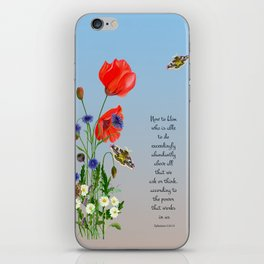 Now to Him Who Is Able to do Exceedingly Abundantly Ephesians 3  Nature Watercolour iPhone Skin