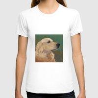 labrador T-shirts featuring Golden labrador by Carl Conway