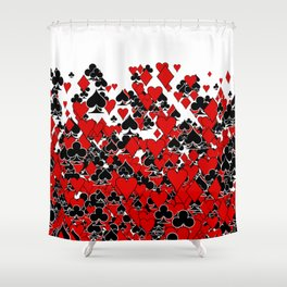 Poker Star Shower Curtain