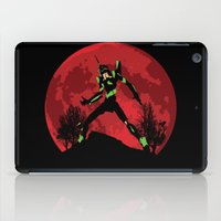 evangelion iPad Cases featuring Neon Genesis Evangelion Unit 01 - Hill Top by kamonkey