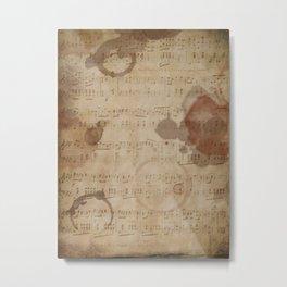 1798 European Ephemera Antique Sheet Music Metal Print
