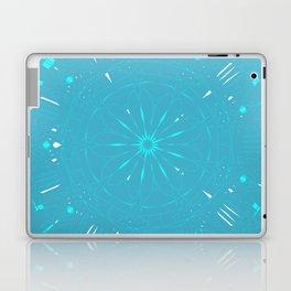 Psychadelic Space Mandala - Turquoise Laptop & iPad Skin