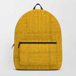 Amber Yellow Faux Bois Wood Pattern Backpack