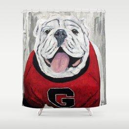 UGA Bulldog Shower Curtain
