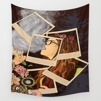 hipster Wall Tapestries featuring Hipster by AMFcreations