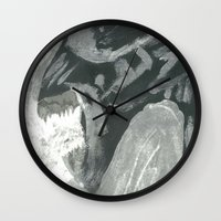 xenomorph Wall Clocks featuring Resist Xenomorph by CliftJinkens