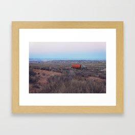 Pastel Sunsets in the Desert, Plus Truck Framed Art Print