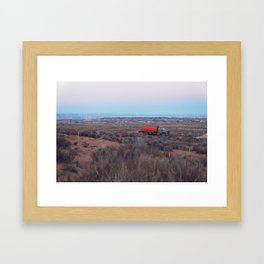 Pastel Sunsets in the Desert, Plus Truck Framed Art Print