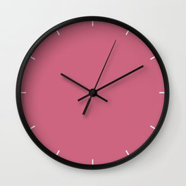 Rapture Rose | Pantone Fashion Color Spring : Summer 2018 | London Solid Color Wall Clock